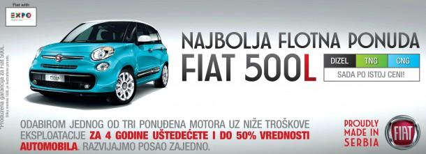 NAJBOLJA FLOTNA PONUDA – FIAT 500L